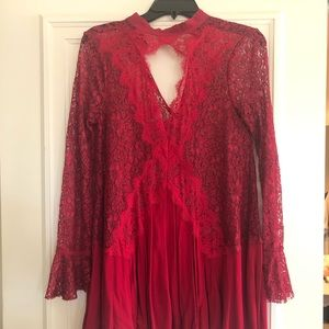 Free People Blouse Red Size XS